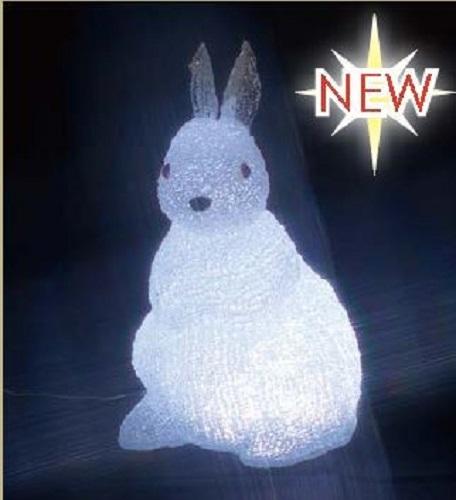 ※代引き不可※【LED クリスタルモチーフ ウサギ(中)】 STM-F19-LA