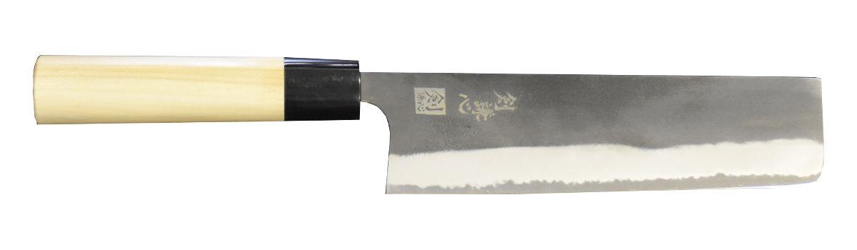 剣謙心 黒打 菜切包丁 白紙2号 P柄 165mm KN-165P-S2