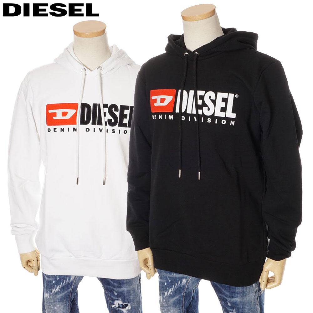 ディーゼル DIESEL プルオーバー パーカー オーバーサイズ メンズ ホワイト/ブラック S/M/L/XL/2XL 00S2JD 0IAJH