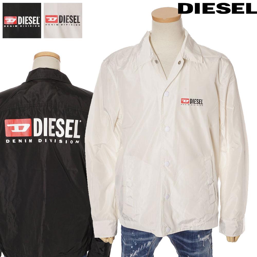 ディーゼル DIESEL ナイロンコーチジャケット メンズ ウィンドブレーカー オーバーサイズ ホワイト/ブラック S/M/L/XL/2XL 00SV75 0WATH