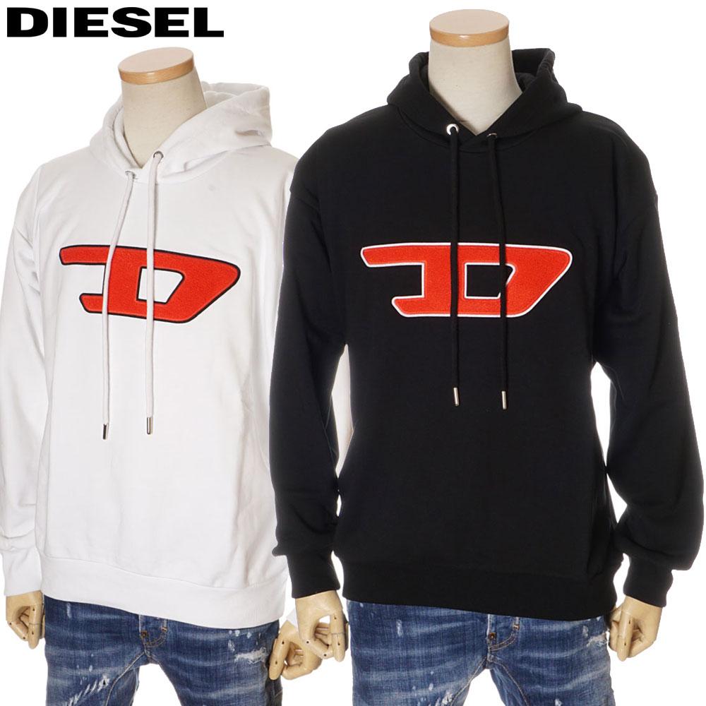 ディーゼル DIESEL パーカー プルオーバー オーバーサイズ メンズ ホワイト/ブラック S/M/L/XL 00SY7D 0IAJH