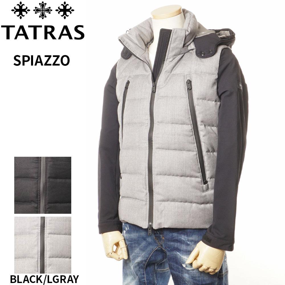 タトラス TATRAS ダウンジャケット 袖切り替え メンズ ブラック/ライトグレー 1/2/3/4/5 SPIAZZO 4134