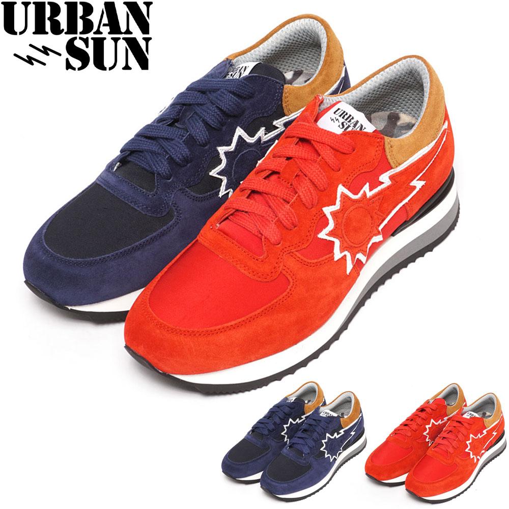 アーバンサン スニーカー URBAN SUN メンズ ネイビー/レッド 40/41/42/43/44/45 VINCENT