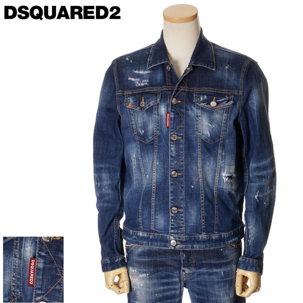 ディースクエアード DSQUARED2 デニムジャケット Gジャン DAN JEAN JACKET メンズ ブルー 44/46/48/50/52 S74AM1027 S30342