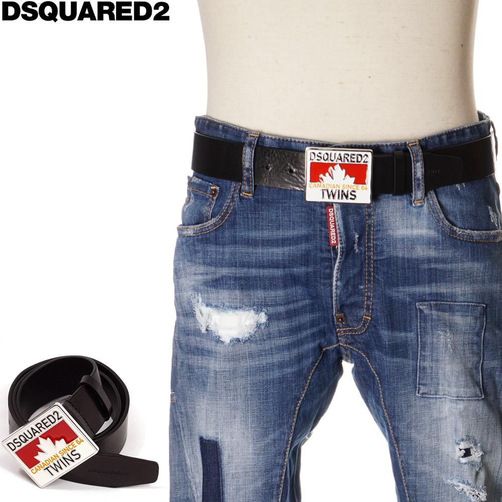 ディースクエアード DSQUARED2 ベルト レザー メンズ ブラック 85/90/95 BEM0151 01500001