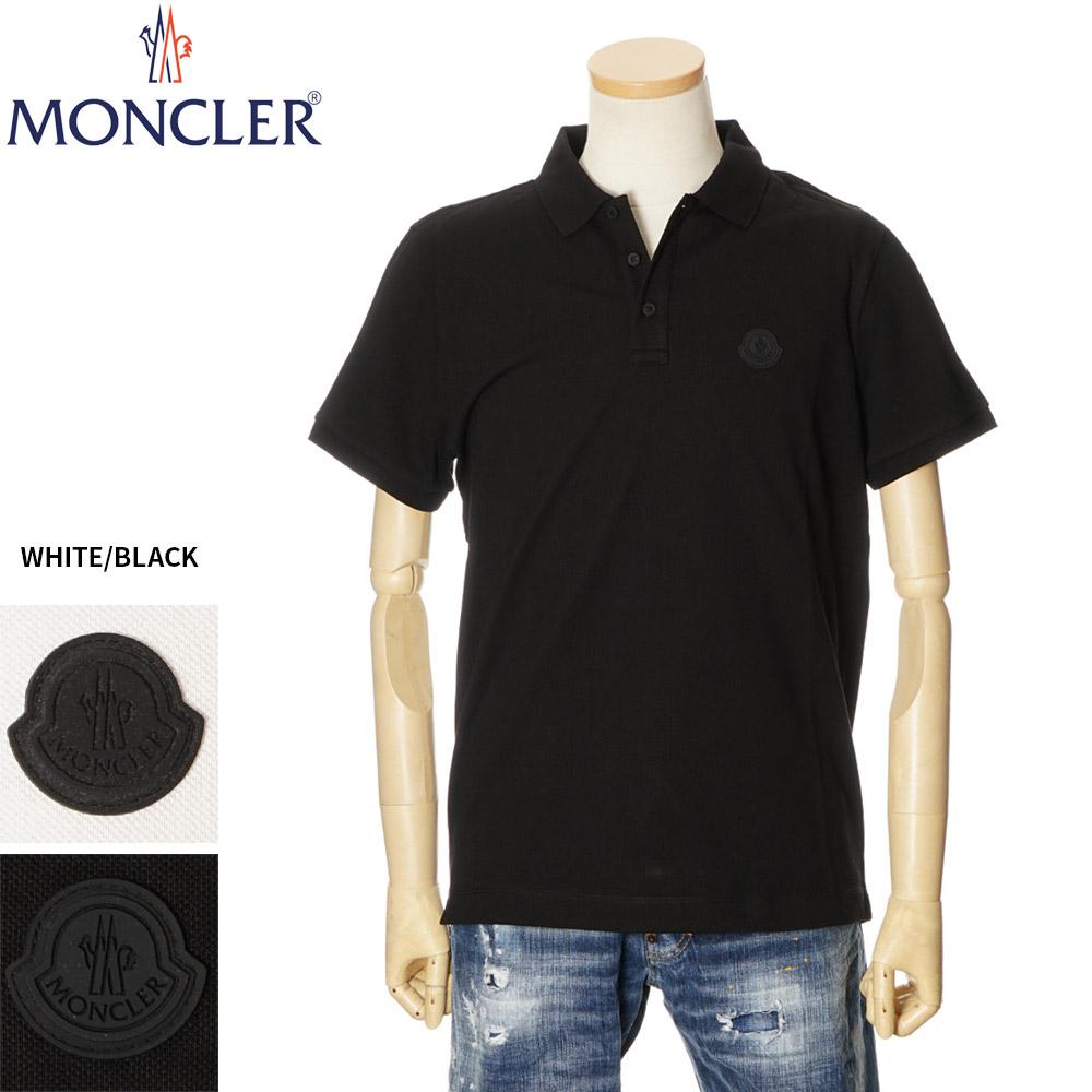 ロゴ ポロシャツ トップス 8A70200 半袖 鹿の子 メンズ S/M/L/XL モンクレール ホワイト/ブラック 091 MONCLER 84556