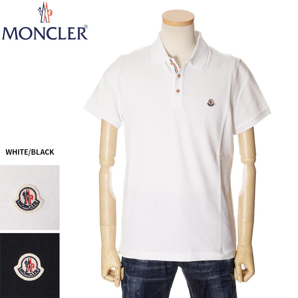 モンクレール MONCLER 鹿の子 ポロシャツ メンズ ワンポイントロゴ ホワイト/ネイビー S/M/L/XL/2XL 091 8A70700 84556