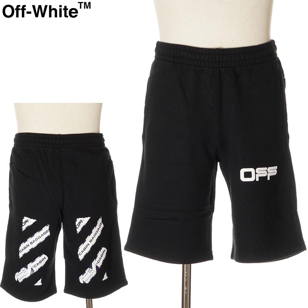 オフホワイト OFF WHITE ハーフパンツ スウェット メンズ エアポートテープアロー ブラック S/M/L/XL OMCI006S20E30003