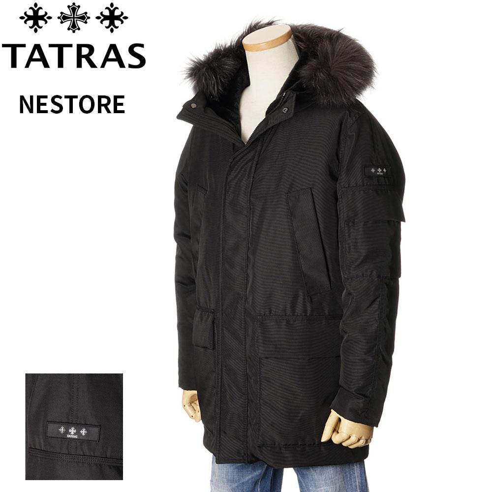 タトラス TATRAS ダウンコート メンズ ミリタリーコート ブラック 1/2/3/4/5 NESTORE 4191