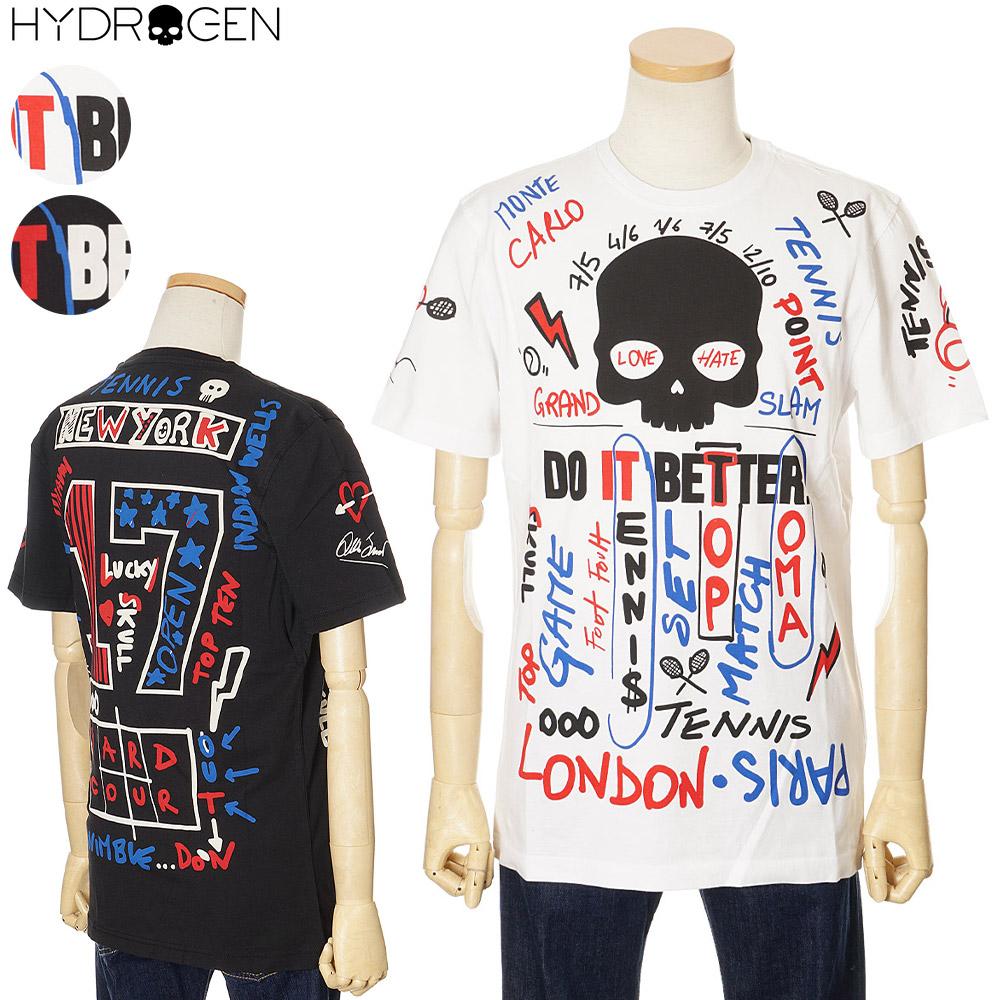 均一価格 2021年春夏新作 ハイドロゲン メンズ Tシャツ HYDROGEN TENNIS 半袖 ホワイト ブラック M 2XL XL [並行輸入品] 期間限定お試し価格 L アウトレットセール S TC0001