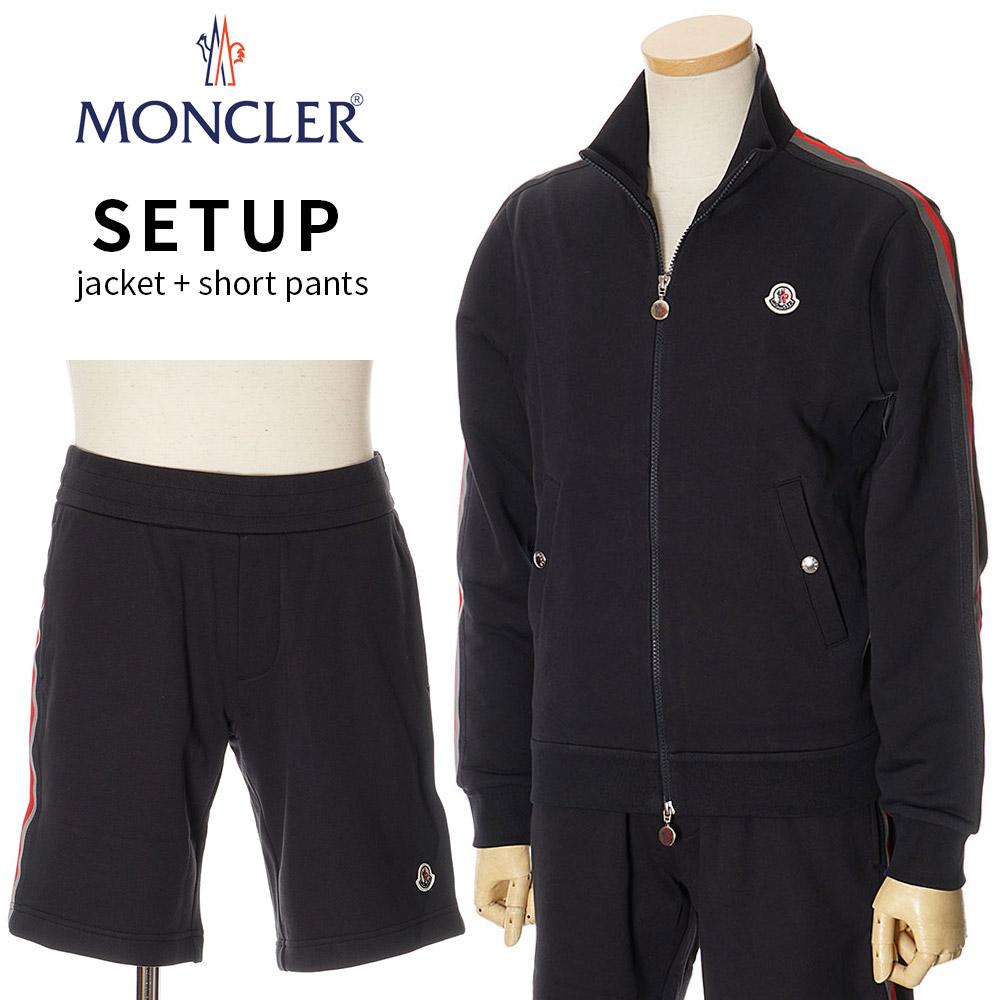 モンクレール MONCLER セットアップ スウェット ジップジャケット ショートパンツ 上下 メンズ ネイビー S/M/L/XL/2XL 091 8G75300 8H70800 8098U