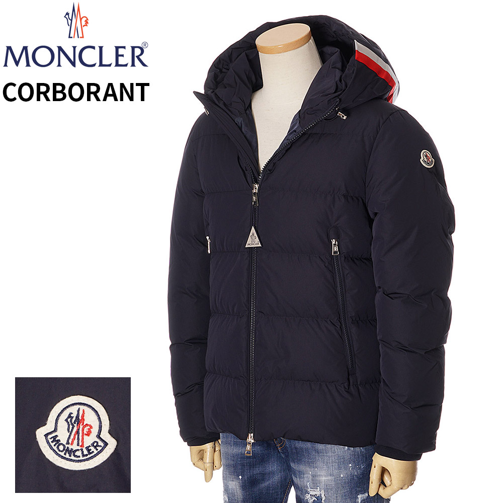 モンクレール ダウン メンズ MONCLER ジャケット トリコロールラインフード CORBORANT ネイビー 1/2/3/4/5 091 1A55600 C0599