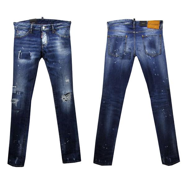 DSQUARED2 SLIM JEAN メンズ ジーンズ[38013] ブルー系 S71LB0292 S30309 470