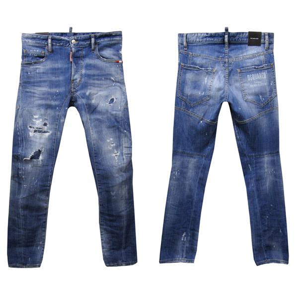 DSQUARED2 ジーンズ メンズ TIDY BIKER JEAN ブルー系 42-54 S74LB0430 S30342 470 [60003]