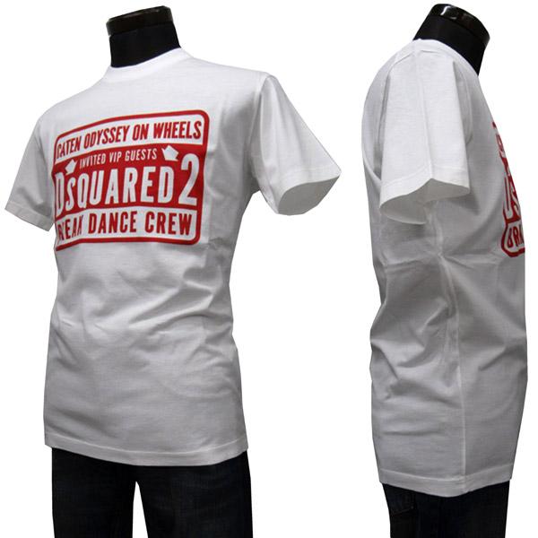 DSQUARED2 Tシャツ メンズ ブランドロゴ入り ホワイト系 S-XXXL S74GD0423 S22427 100 [60016]