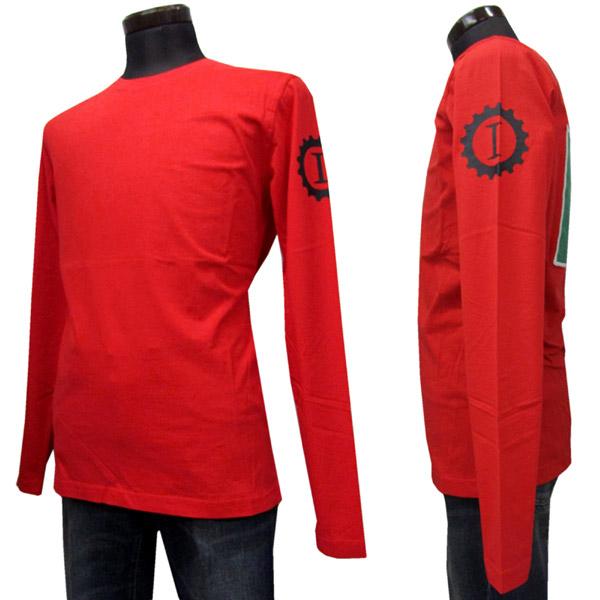 HYDROGEN ロングTシャツ メンズ レッド系 S-XXXL LG0009 002 RED [60019]