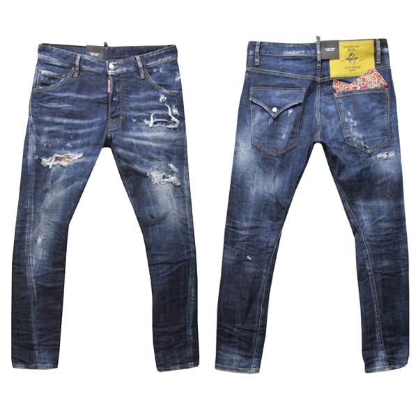 DSQUARED2 ジーンズ メンズ CLASSIC KENNY TWIST JEAN ブルー系 44-54 S71LB0502 S30144 470 [60040]