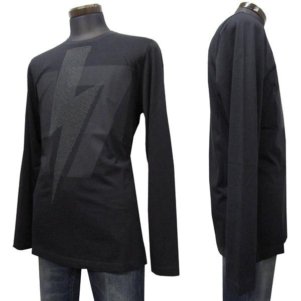 HYDROGEN ロングTシャツ メンズ ブラック系 S-XXXL 230128 007 BLACK [60054]