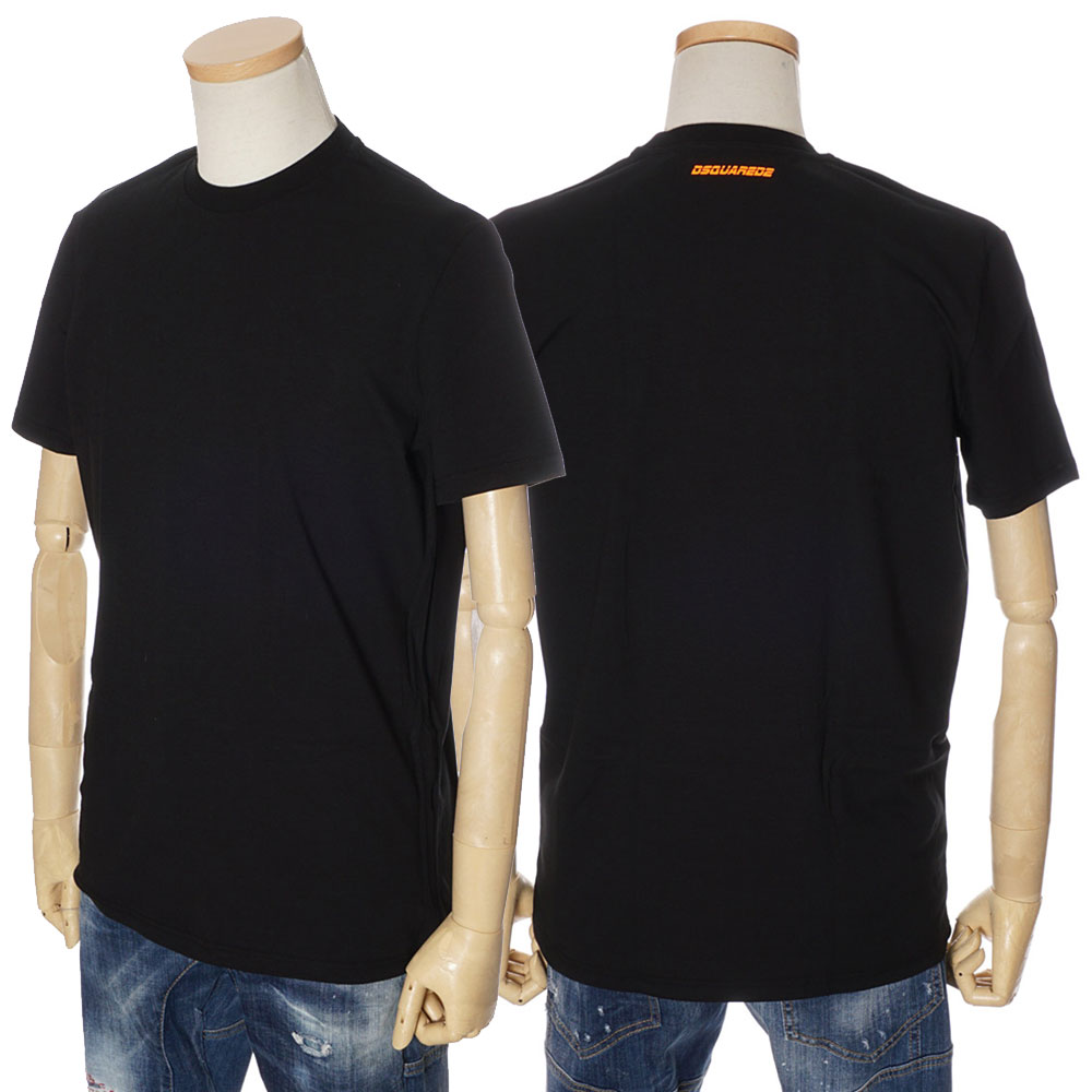 ディースクエアード DSQUARED2 Tシャツ メンズ ブラック S/M/L/XL/XXL D9M202310 200 [71017]
