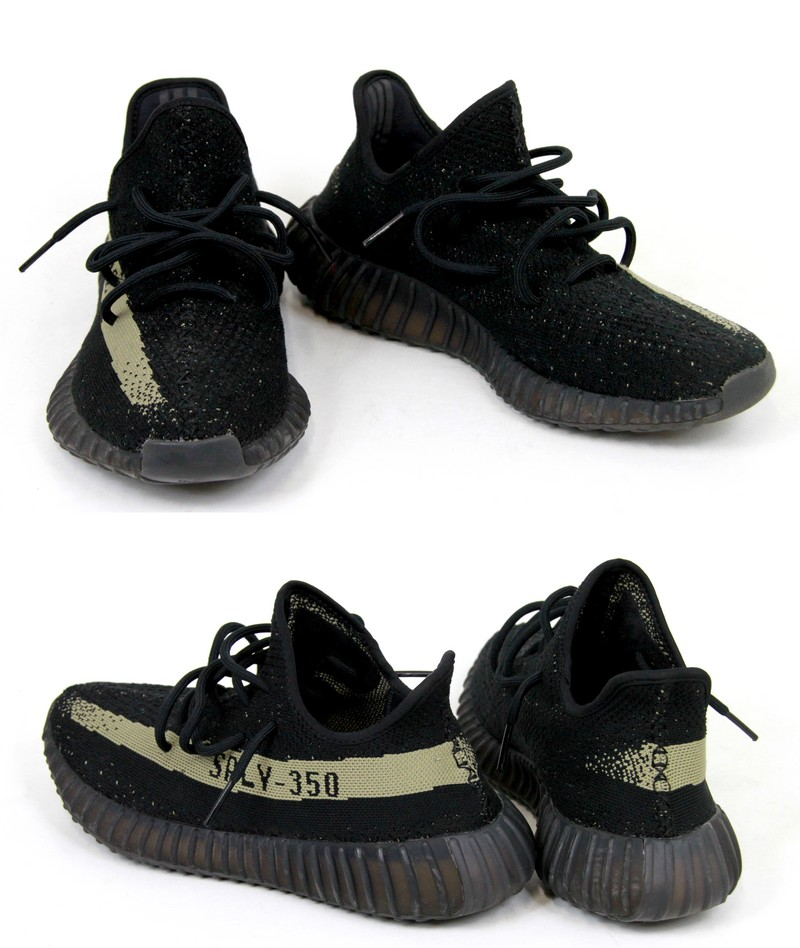 1997ec3befb24 ADIDAS Yeezy Boost 350 V2 by Kanye West  Adidas easy boost 350 V2 low-frequency  cut sneakers BY9611 size  A 27.5cm color  Black   green s7 non-ya