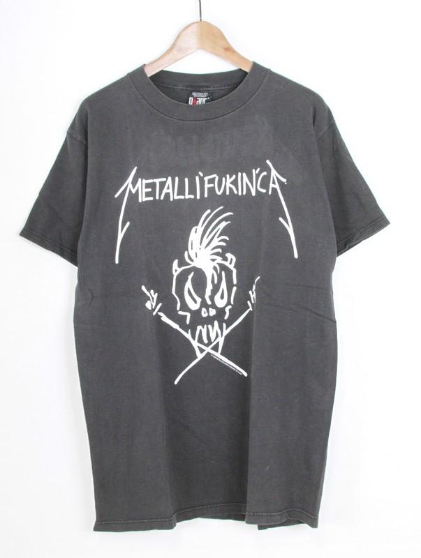 af272b7f0 Metallica/ Metallica vintage T-shirt METALLIFUKINCA size: L color: Black  non- ...