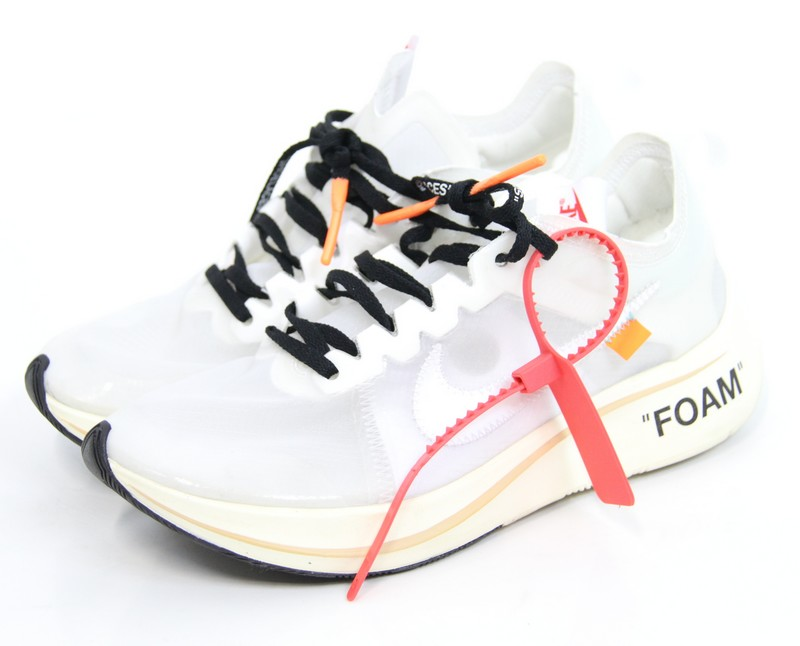 OFF,WHITE X NIKE/ off,white X Nike zoom fly sneakers THE TEN ZOOM FLY  AJ4588,100 size A 25.5cm color White