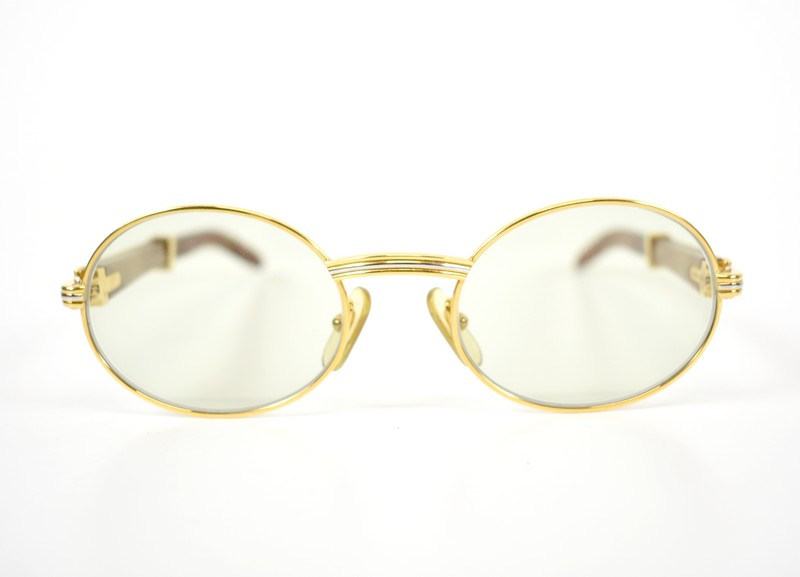 0fb921148e Cartier  Cartier Wood temple glasses vintage 130b size  A 51-20 color  Gold    brown