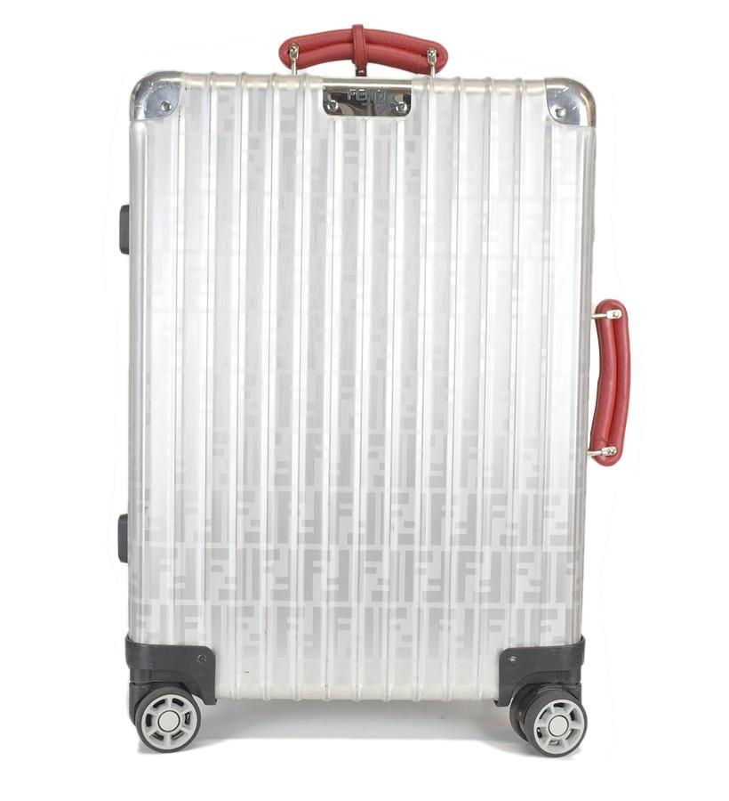 FENDIxRIMOWA/フェンディ×リモワ FFロゴスーツケース サイズ:33L カラー:シルバー/レッド【中古】【古着】【USED】【181106】【未yast】