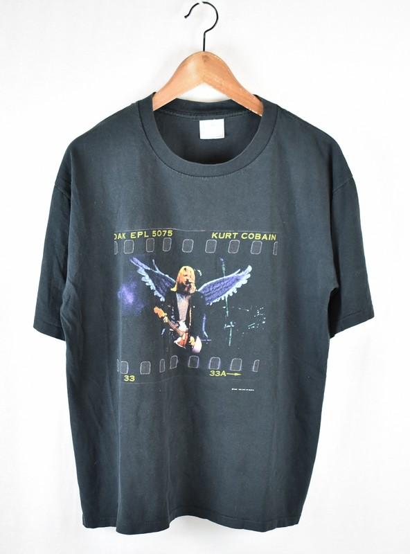 5ed96413 NIRVANA/ nirvana Kurt Cobain angel wing vintage T-shirt size: L color: ...