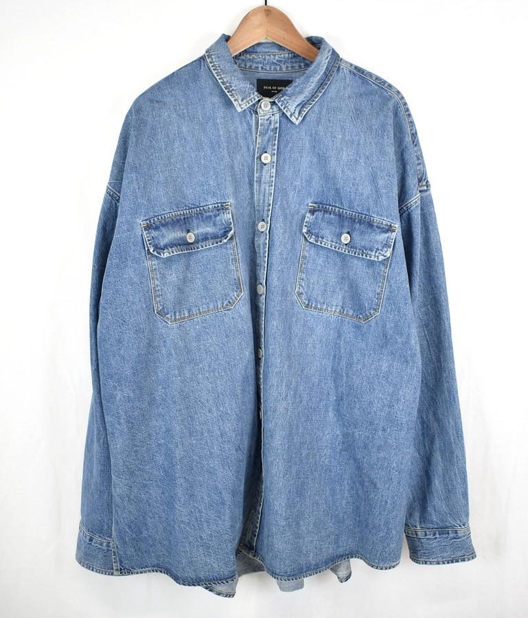 FEAR OF GOD/フィアーオブゴッド 5th オーバーサイズデニムシャツ サイズ:XL カラー:インディゴブルー【中古】【古着】【USED】【181014】【yast】