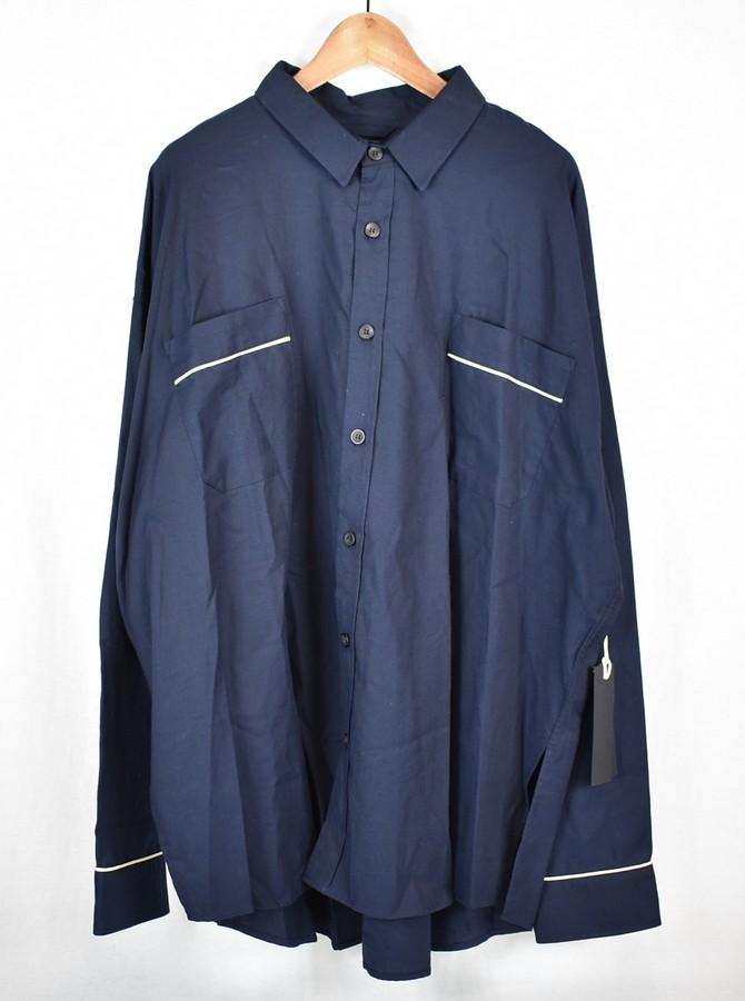 FEAR OF GOD/フィアーオブゴッド 5th オーバーサイズパイピングボタンシャツ パジャマシャツ サイズ:XL カラー:ネイビー【中古】【古着】【USED】【181211】【yast】