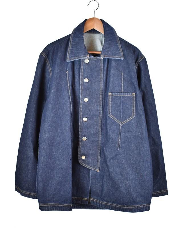 高級感 NAMACHEKO/ナマチェコ 20AW デニムシャツジャケット MANNI DENIM OVER SHIRT サイズ:M カラー:インディゴ【】【古着】【USED】【201017】【未yast】, 子供服ミリバール 30454f9a
