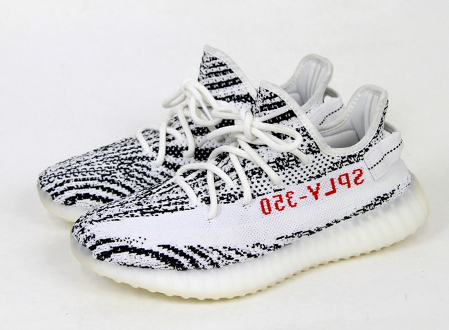 adidas Yeezy boost350 v2 Adidas easy boost 350 V2 low frequency cut sneakers CP9654 zebra size: US8.5 color: White s7 ya