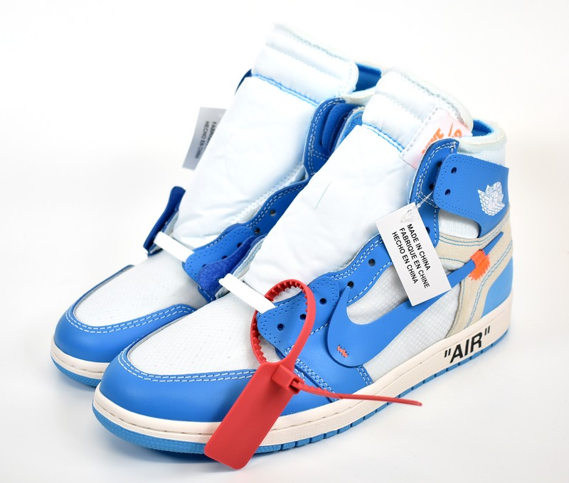 4546e0a4509abf OFF-WHITE X NIKE  off-white X Nike Air Jordan 1 North Carolina sneakers The  Ten Air Jordan 1 AQ0818-148 size  A 26cm color  Powder blue