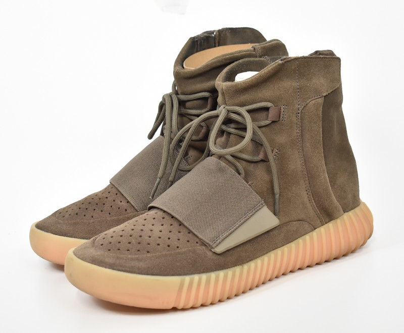 check out ac20e 60d75 750 ADIDAS Yeezy 750 Boost by Kanye West/ Adidas X easy boost higher  frequency elimination sneakers BY2456 size: US9.5(JP27.5) color: Light brown