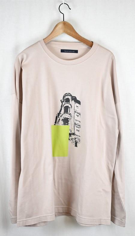 liberum arbitrium/リベルムアルビトリウム グラフィックプリントロングスリーブTシャツ サイズ:2 カラー:アッシュピンク【中古】【古着】【USED】【191105】【yast】