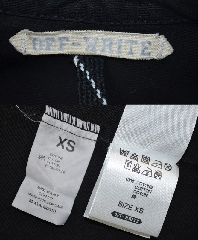 Off white 14 SS DENIM SHIRTS denim shirt jacket size XS color: black s7 unread ya