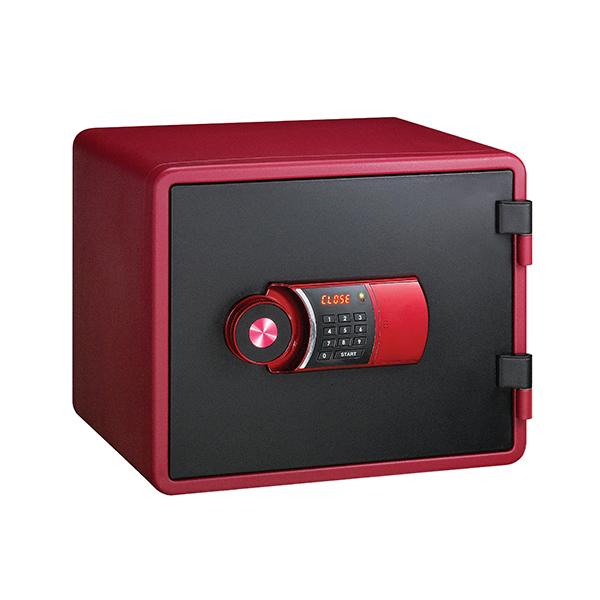 【メーカー直送】EIKO エーコー 小型耐火金庫 YES COLOR SAFE 【YESM-020RD】【時間指定不可】【代引不可】【設置費込み】マイナンバー 保管 対策