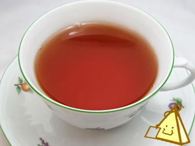 茶葉に含まれるカフェインを80~90%取り除いた デカフェ紅茶 フルーツミックスティー 三角ティーバッグ 20個入り