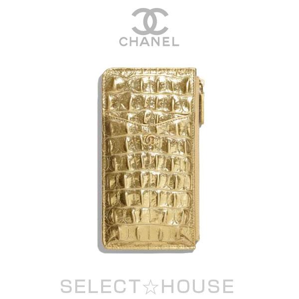 CHANEL シャネル iPhone クラシック ポーチ【19A】【SELECTHOUSE☆セレクトハウス】ゴールド バッグ ミニバッグ