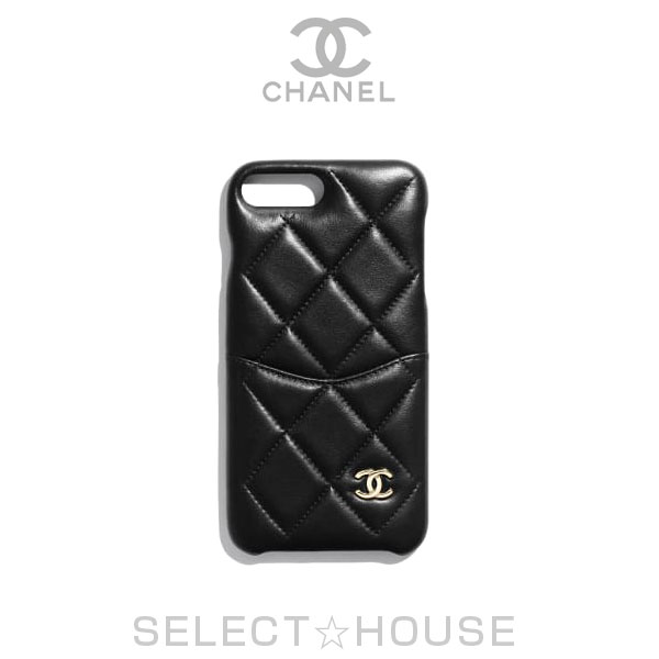 new products 0ffd3 ad34b CHANEL Chanel iPhone 7 Plus & 8 Plus classical music case black gold iPhone  case smartphone case