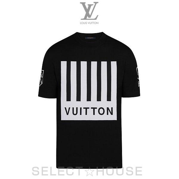 【19A】LOUIS VUITTON ルイ・ヴィトン Vuittonバーコード&アースTシャツ【SELECTHOUSE☆セレクトハウス】トップス