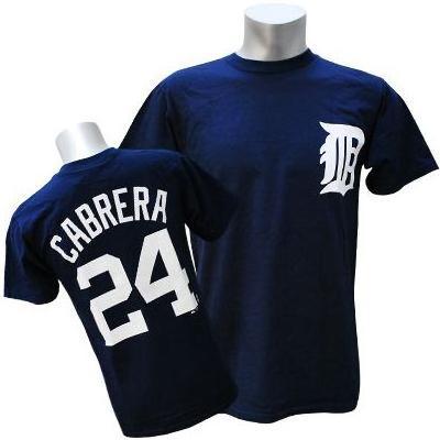 MLB タイガース ミゲル・カブレラ Tシャツ ネイビー マジェスティック Player Tシャツ【1910セール】【1112】