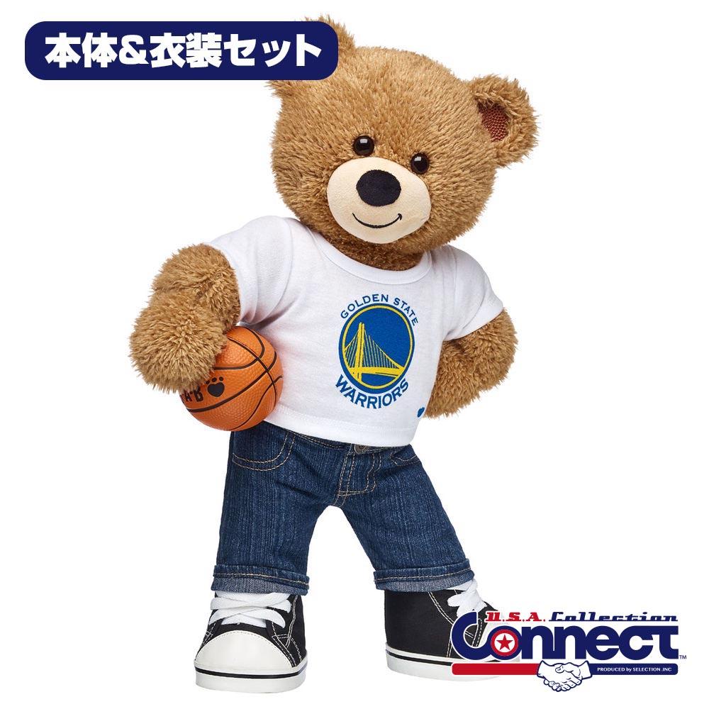Build-A-Bear ダッフィー NBA ウォリアーズ ぬいぐるみ コスチュームセット ギフト ビルドアベア