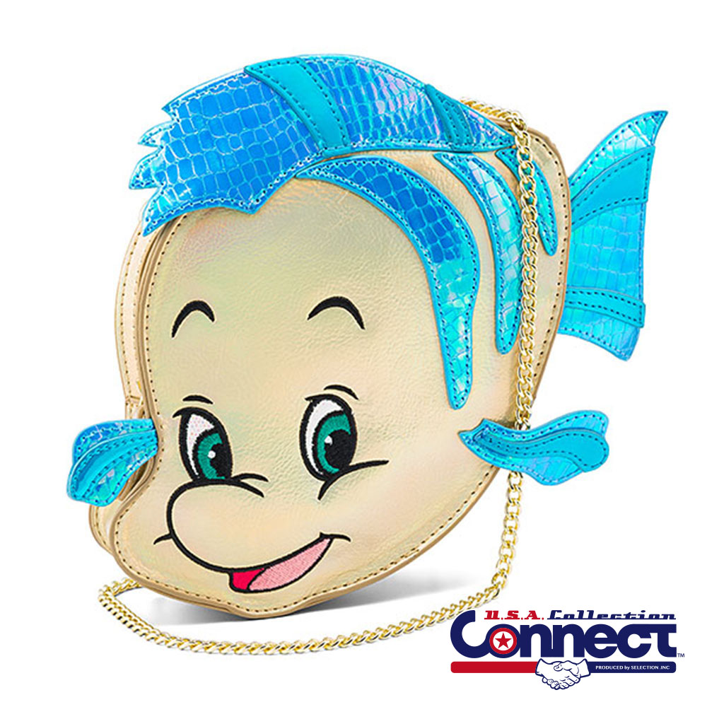 お取り寄せ ディズニー Disney US公式 レディース メンズ兼用 フランダー リトルマーメイド ボディバッグ お財布バッグ