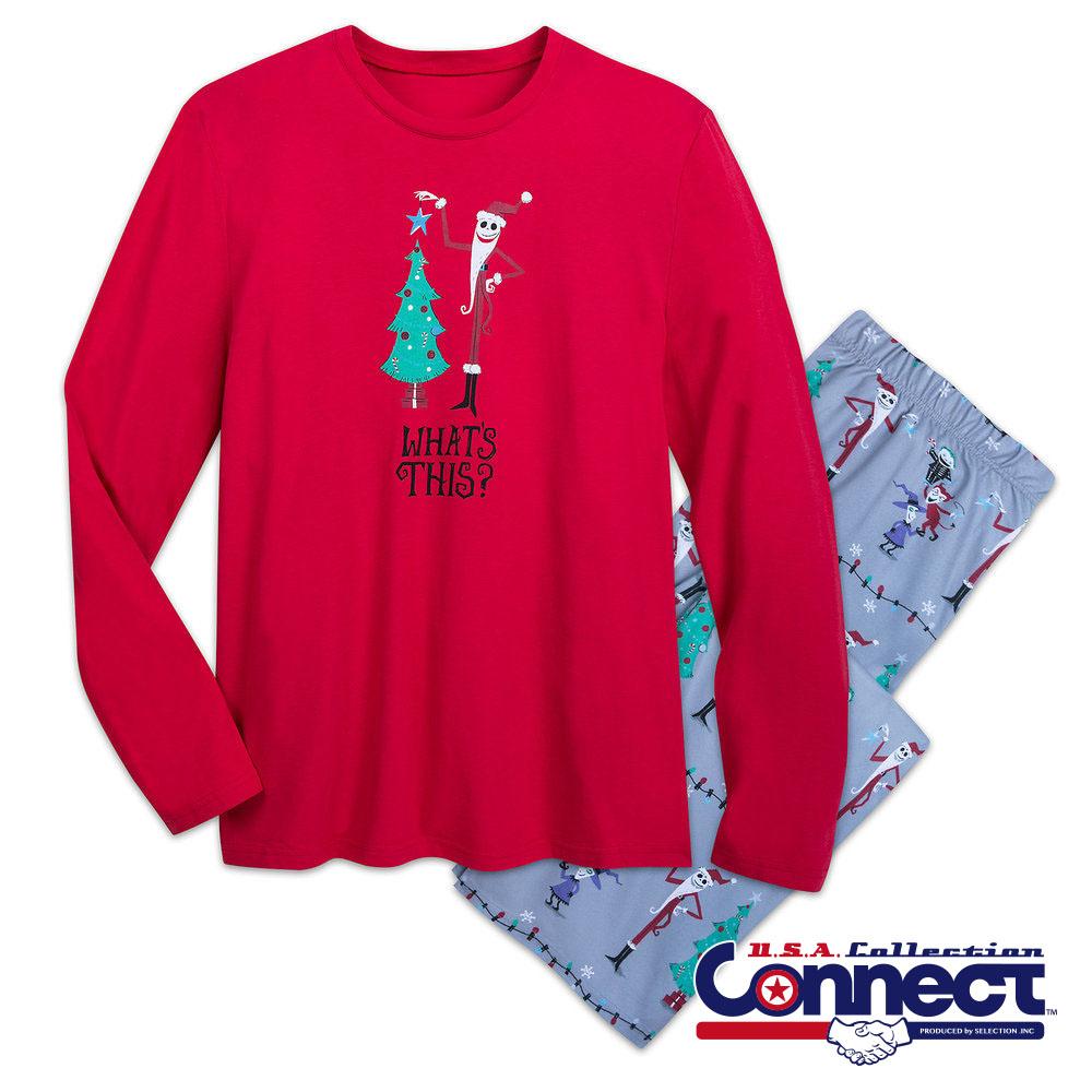 ディズニー Disney US公式 メンズ ジャック ナイトメアビフォアクリスマス クリスマス ルームウェア パジャマ セット モンキーモンキー