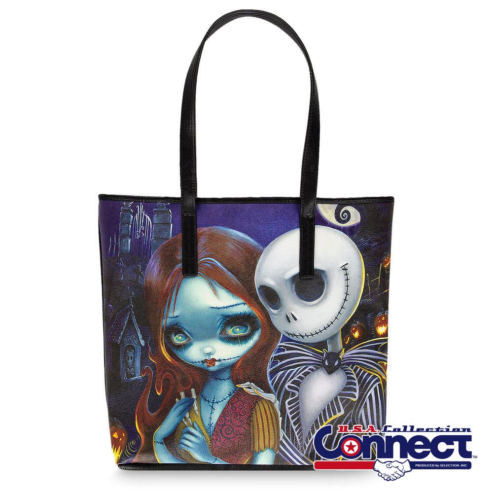 お取り寄せ ディズニー Disney US公式 ジャック サリー ナイトメアビフォアクリスマス トートバッグ