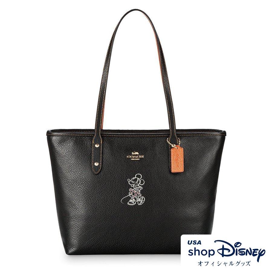 お取り寄せ ディズニー Disney US公式 ミニーマウス ジップ トートバッグ コーチ COACH