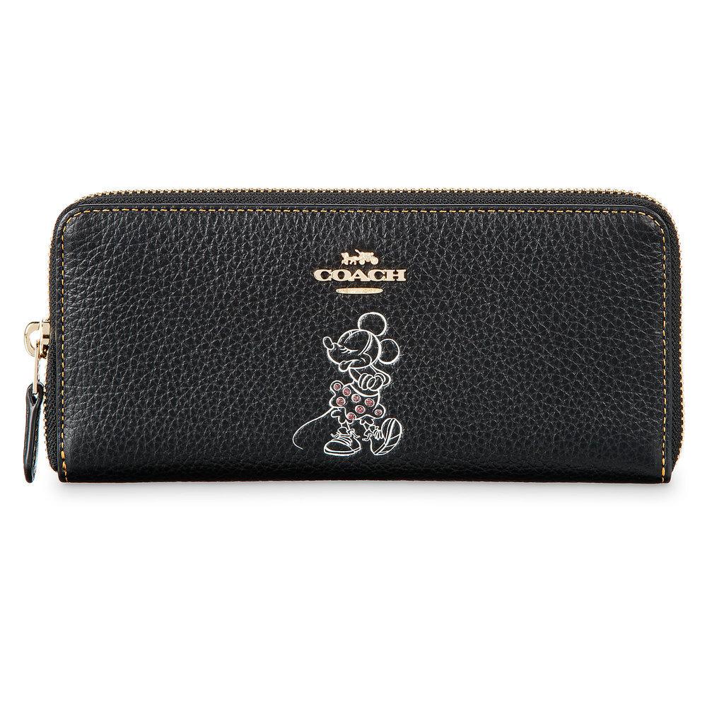 お取り寄せ ディズニー Disney US公式 ミニーマウス 長財布 ファスナー ウォレット コーチ COACH