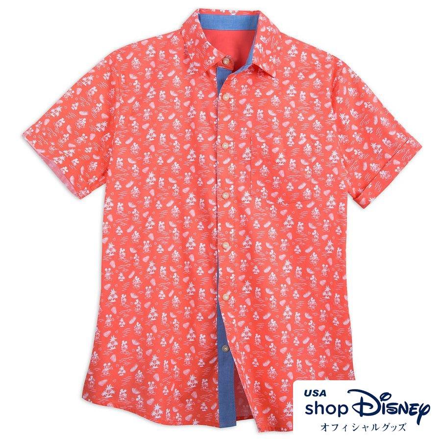 お取り寄せ ディズニー Disney US公式 メンズ ミッキーマウス トロピカルシャツ 半袖